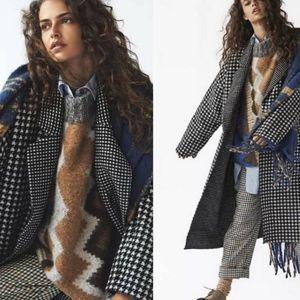 FREE PEOPLE - Houndstooth Chelsea Coat